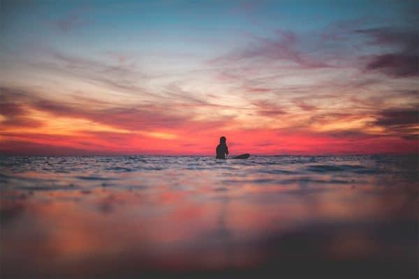 Victoria Vergara sunset Hossegor