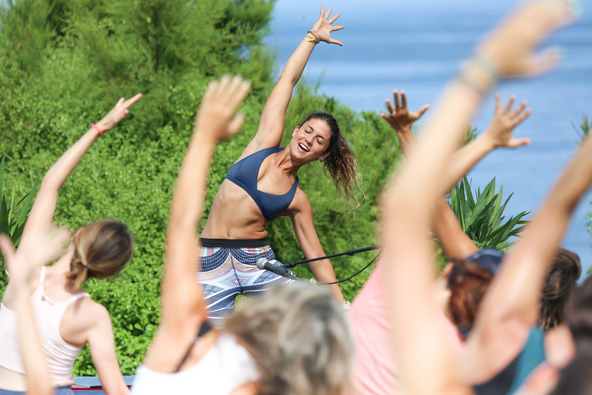 Festival Biarritz en été Roxy Yoga