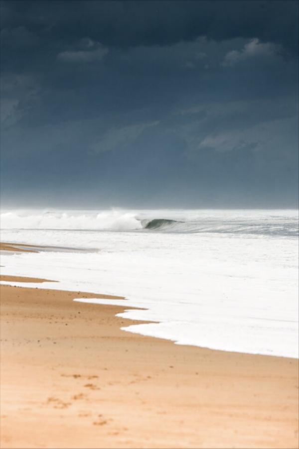 vague dans les landes, orage